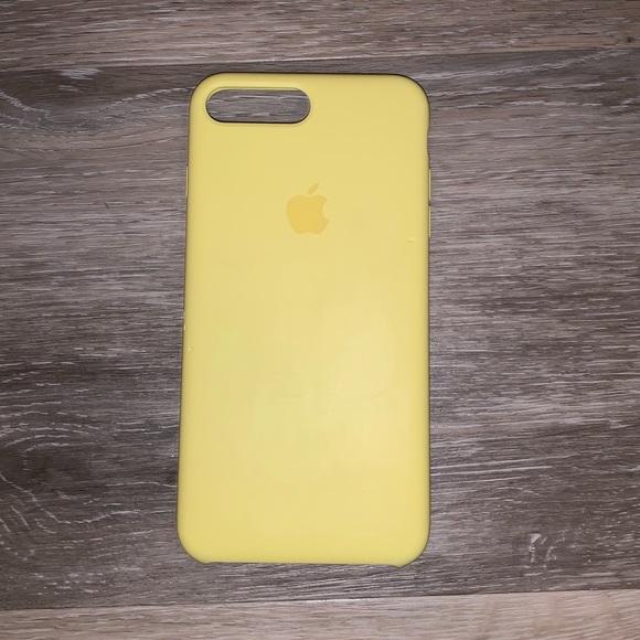 iphone 8 apple case yellow